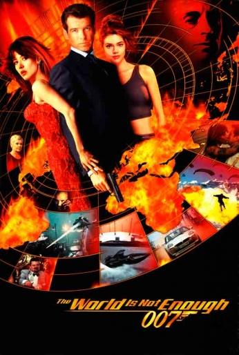 Filme: 007 - The World is Not Enough (007 - O Mundo Não é o Bastante, 1999). Direção: Michael Apted. Elenco: Pierce Brosnan, Sophie Marceau e Robert Carlyle.