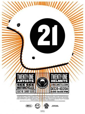 Twenty-One Helmets