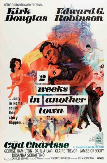 Filme: 2 Weeks in Another Town (A Cidade dos Desiludidos, 1962). Direção: Vincente Minnelli. Elenco: Kirk Douglas, Edward G. Robinson e Cyd Charisse.