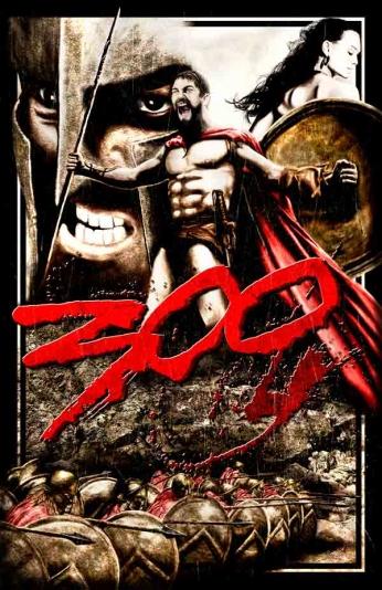 Filme: 300 (2006). Direção: Zack Snyder. Elenco: Gerard Butler, Lena Headey, Dominic West.