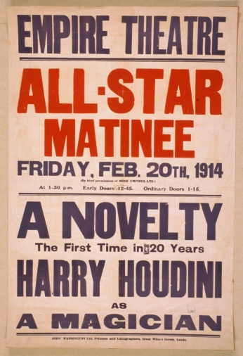 A Novelty, The First In 20 Years, Harry Houdin Empire Theatre