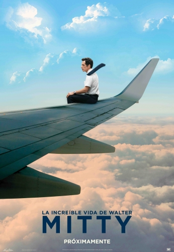 Poster A Vida Secreta de Walter Mitty Airplane Movie P