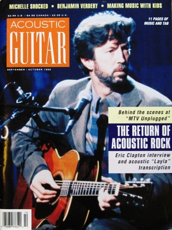 Acoustic Guitar Eric Clapton Interview