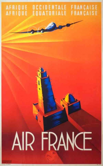Air France - Vintage Travel Poster
