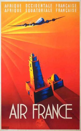 Air France - Vintage Travel Poster