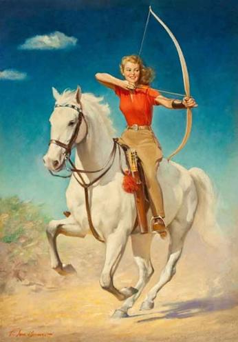 Archer Riding a Horse