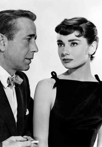 Audrey Hepburn e Humphrey Bogart - 1954