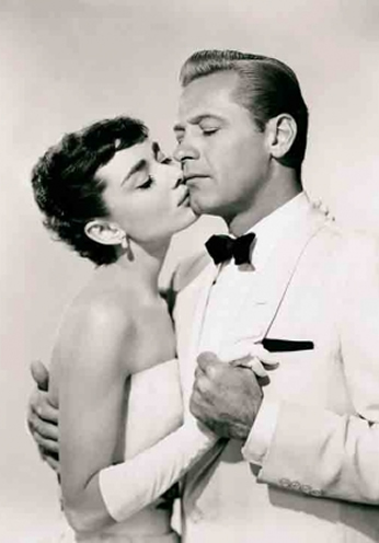 Audrey Hepburn e William Holden - 1954
