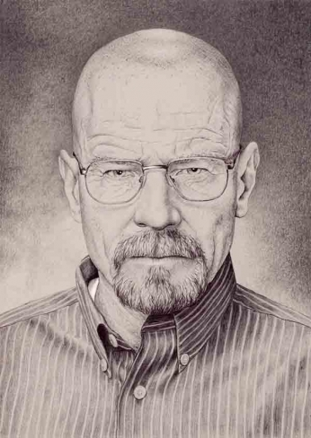 Breaking Bad - Heisenberg - Pencil Portrait
