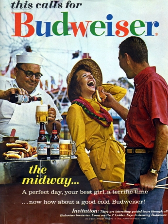 Pôster Budweiser - This Calls for Budweiser, 1963.