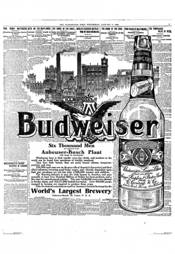 Budweiser - Newspaper