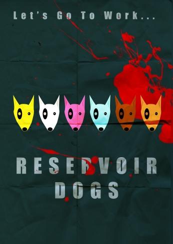Cães de Aluguel Reservoir Dogs Illustrator Poster 05.