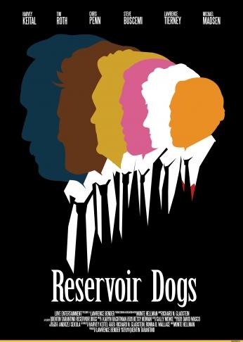 Cães de Aluguel Reservoir Dogs Minimalism Poster 03.