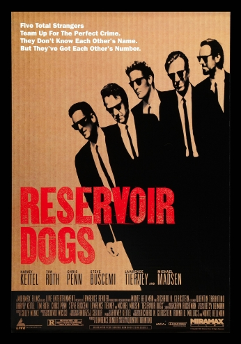Cães de Aluguel Reservoir Dogs Movie Poster.
