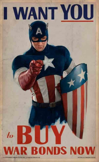 Captain America - I Want You to Buy War Bonds Now