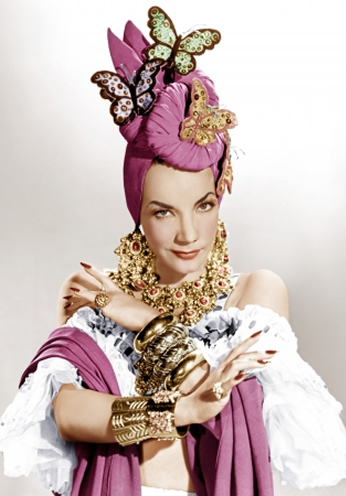 Carmen Miranda Poirtrat Color