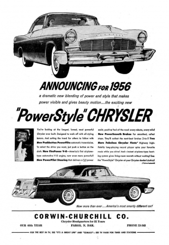 Chrysler - PowerStyle - 1956