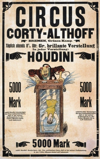 Poster Circus Corty-Althoff Houdini.