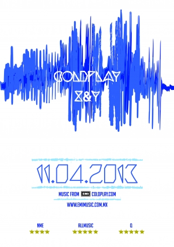 Coldplay Concert Poster 2013.