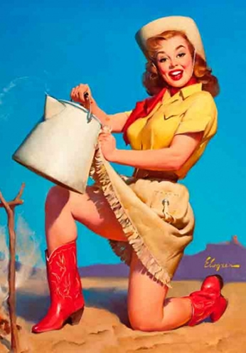 Country Girl by Gil Elvgren