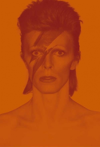 David Bowie - Orange Portrait