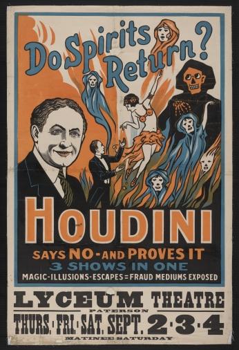 Poster Do Spirits Return Houdini Says No.