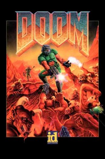 Doom. Capa do clássico jogo para computadores, lançado em dezembro de 1993.