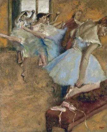 Edgar Degas - Aula de Ballet - 1900