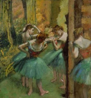 Edgar Degas - Dançarinas em Rosa e Azul - 1890