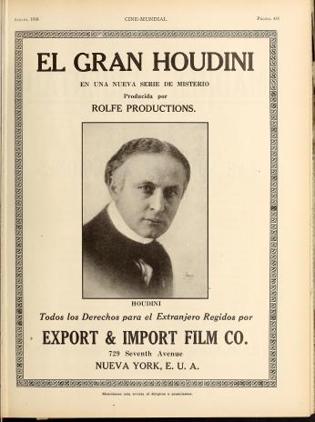 Poster El Gran Houdini.