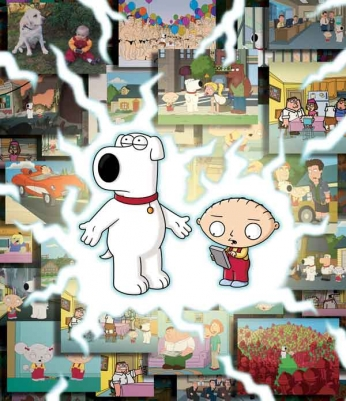 Family Guy - Brian and Stewie - Time Trip