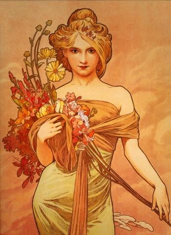 Femme avec des Fleurs - 1897