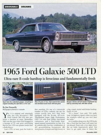 Ford Galaxy 500 LTD 1965 Jornal.