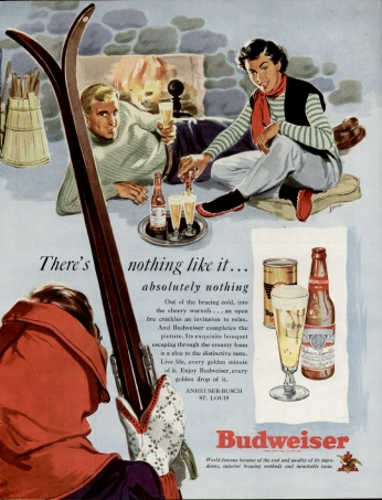 Pôster Budweiser - There's Nothing Like It..., 1949.