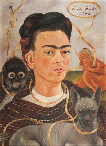 Frida Kahlo Autoretrato Conchanguito.