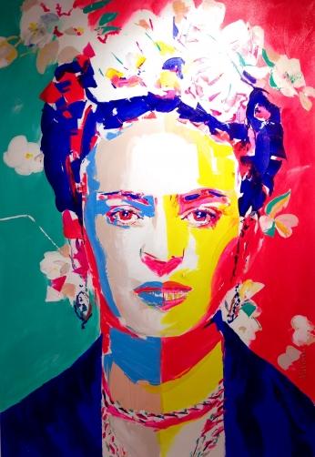 Frida Kahlo Pintura Minimalista.