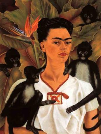 Frida Kahlo - Autorretrato - Monos - 1943