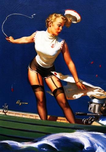 A Fast Takeoff by Gil Elvgren