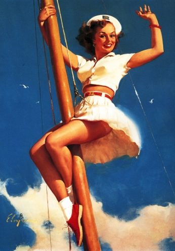 Anchors a Wow by Gil Elvgren