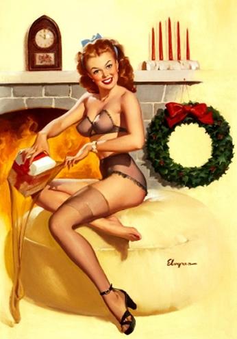 Christmas by Gil Elvgren