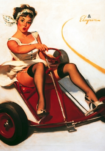 Curving Around by Gil Elvgren