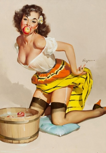 Apple by Gil Elvgren