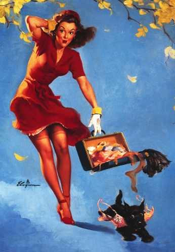 Finders Keepers by Gil Elvgren