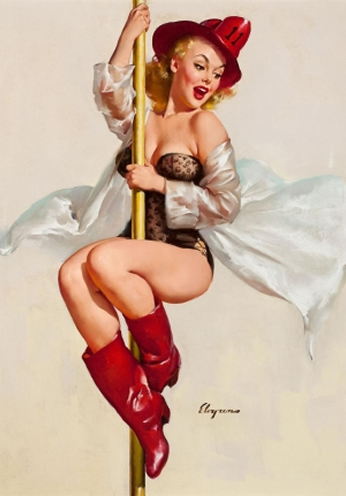 Fire Girl by Gil Elvgren