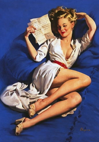 He Thinks Im Too Good To Be True by Gil Elvgren
