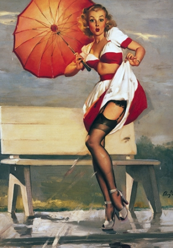 I've Been Spotted by Gil Elvgren