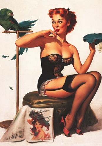 No You Don't by Gil Elvgren