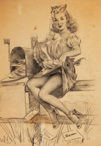 Pencil Study by Gil Elvgren