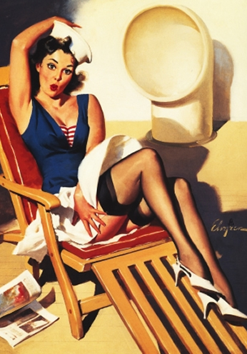 Skirts Ahoy by Gil Elvgren