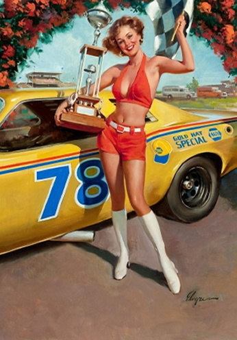 Race Car by Gil Elvgren